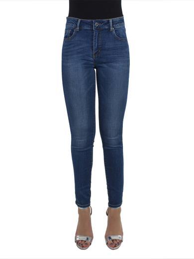 MISS BONBON Jeans vita alta A01102