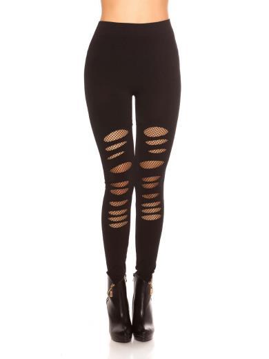 KOUCLA Leggings con strappi A01157
