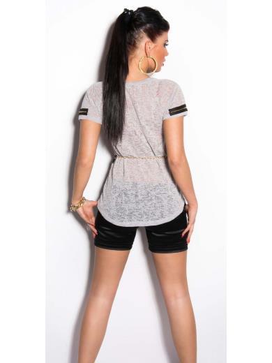 KOUCLA T-shirt trasparente A01165