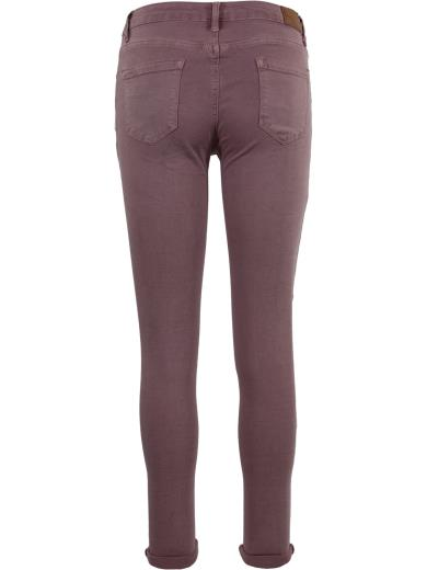 HAND WORK DENIM Pantalone in cotone skinny A01284