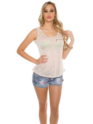 KOUCLA Top in pizzo A01360