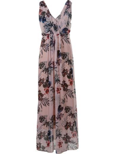 CARMEN UNICA Vestito lungo a fiori A01379