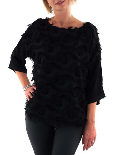CARMEN Blusa elegante con frange 18-643
