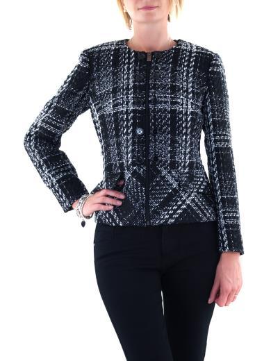 CARMEN Giacca effetto tweed con zip 3351