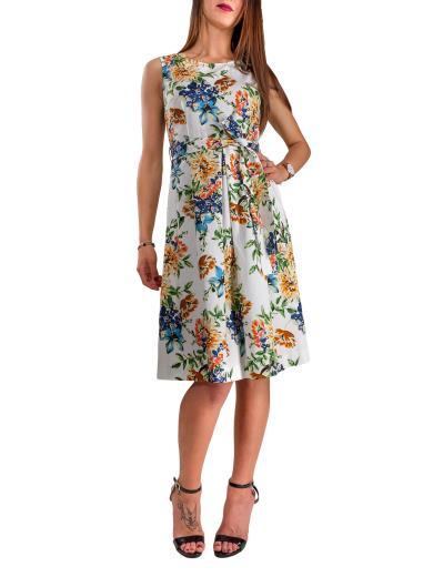 CARMEN Vestito alginocchio con stampa floreale 6197