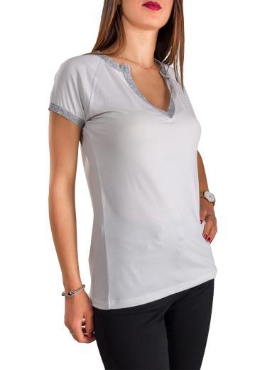 CARMEN T-shirt manica corta con scollatura modello polo C76