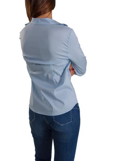 CARMEN Camicia manica lunga con volant DIAMANTE