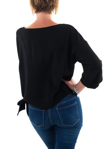 CARMEN Blusa manica lunga con fiocco laterale FTI668