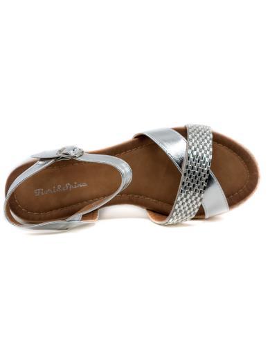 FIORI E SPINE Sandalo gioiello con zeppa GH381