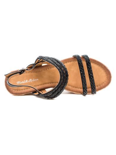 FIORI E SPINE Sandalo gioiello con zeppa in corda GH393
