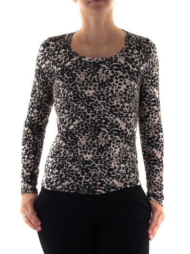 MADE IN ITALY T-shirt manica lunga animalier M1383F47
