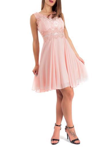 check out da141 6f7f4 STRAVAGANZE Vestito cerimonia corto 2698