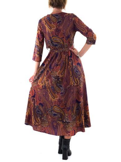 Vestito lungo manica tre quarti taglio in vita BERNA