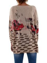LULU_COM Maxi maglia girocollo manica lunga YF2063