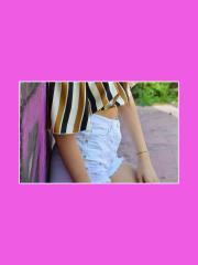 CARMEN UNICA Short corto in jeans stelle P863T5B22RT