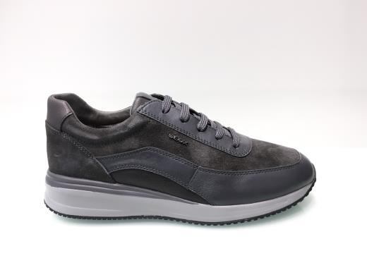 GEOX DENNIE U740GA NAVY BLACK scarpe uomo sneakers pelle