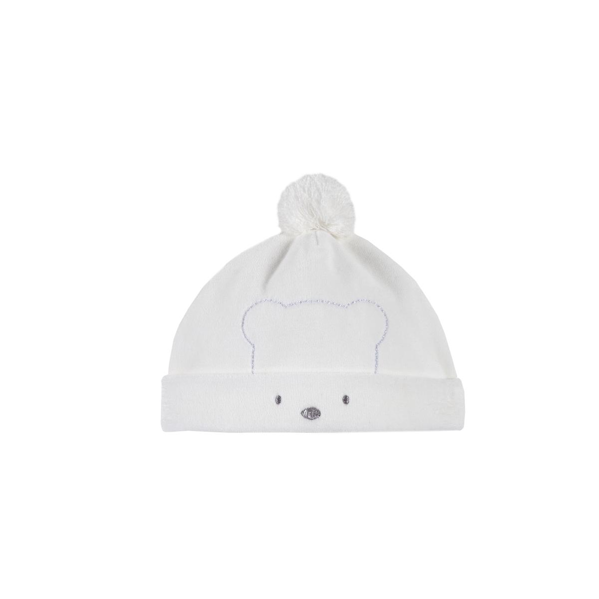 cheaper 73758 19cb4 Cappellino Bianco Ciniglia Neonato Unisex Chicco|Shop ...