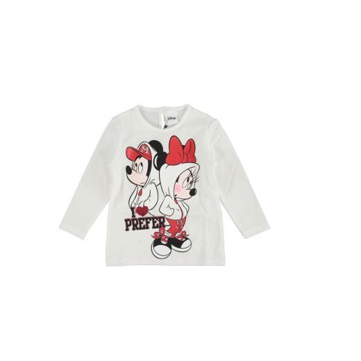MAELIE  T-shirt In Cotone Manica Lunga Grigia Per Neonata Maelie