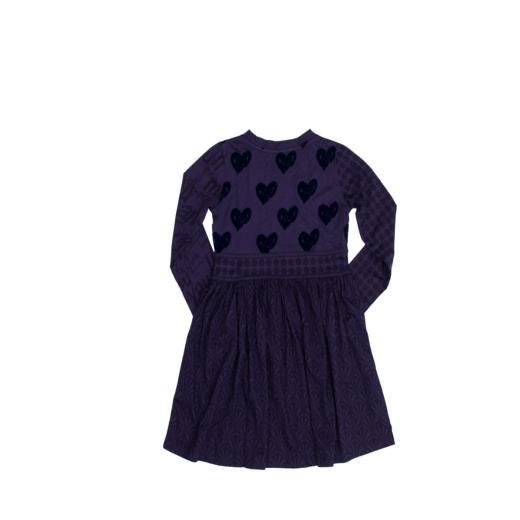 DESIGUAL Vestito Blu Manica lunga da Bambina Desigual