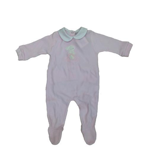 COCCODÈ Tutina maniche lunghe in ciniglia neonata Coccodè