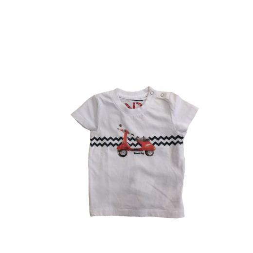 RONNIE KAY T-shirt Bianca Mezza Manica Neonato Ronnie Kay