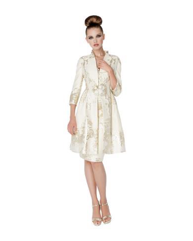 timeless design 7f089 f784c Sonia Pena Abito con giacca colore oro sannybell.it ...