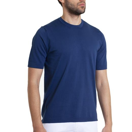 SOLID COLOUR KNIT T-SHIRT
