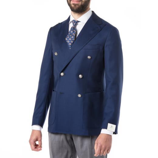 DOUBLE-BREASTED VIRGIN WOOL JACKET