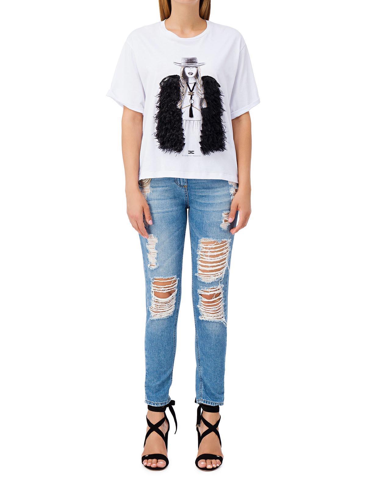 Elisabetta franchi pj32s81e2 jeans strappati con catena for Ciondoli cod di capo
