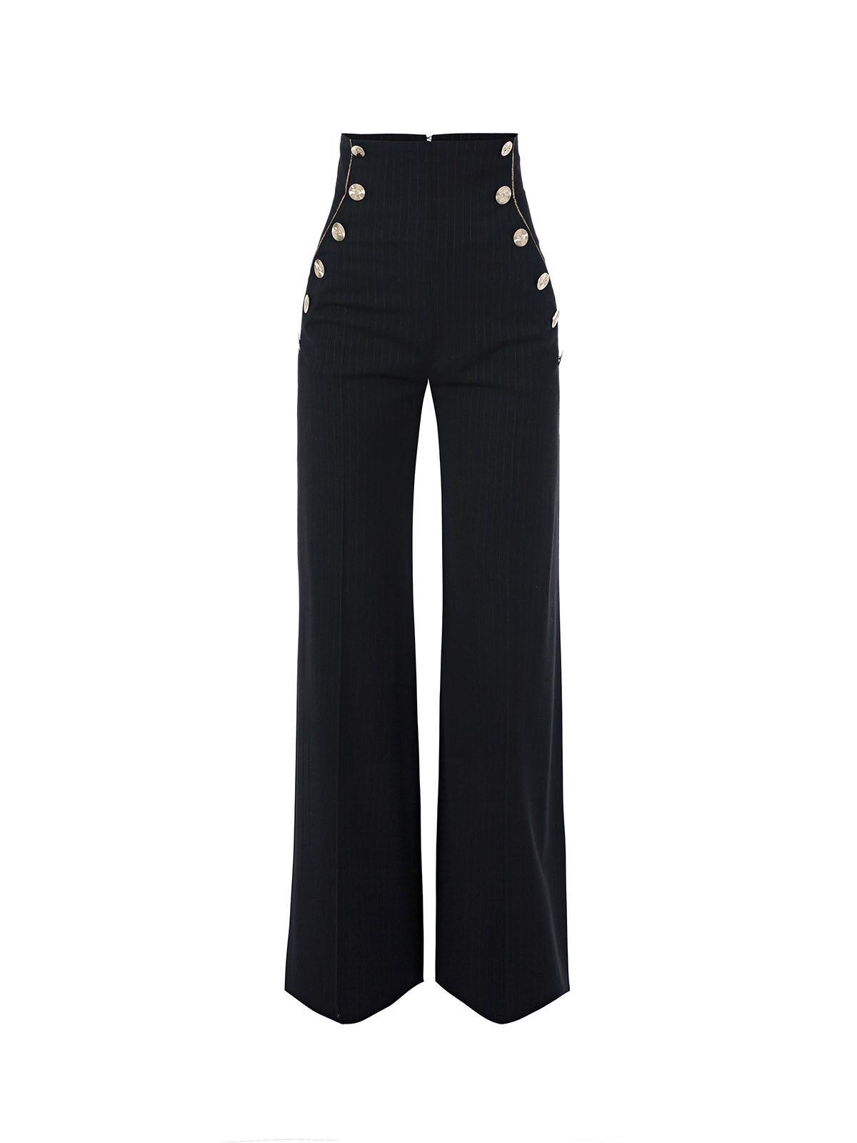 Elisabetta franchi pa07677e2 pantalone a palazzo gessato - Diva pants recensioni ...
