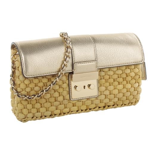 MICHAEL KORS STRAW CLUTCH