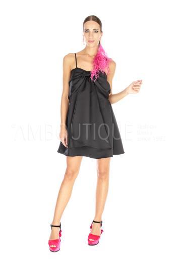 BLACK DRESS ABITO