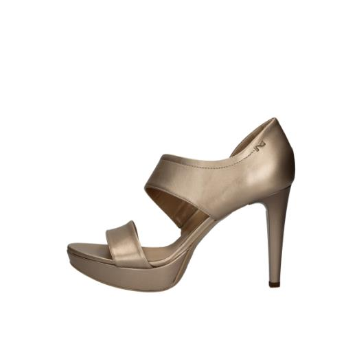 NeroGiardini P908480DE Oxigen Rosa Antico sandali tacco alto in pelle con plateau