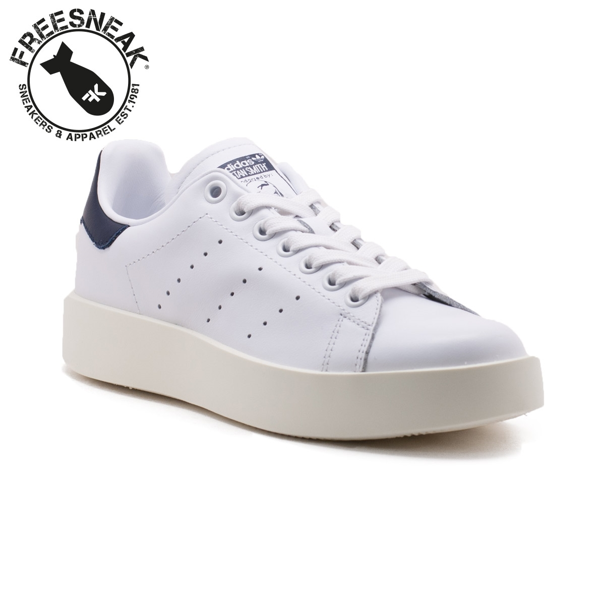 differently 1cbb2 4e58b STAN SMITH BOLD W WHITE BLUE BA7770