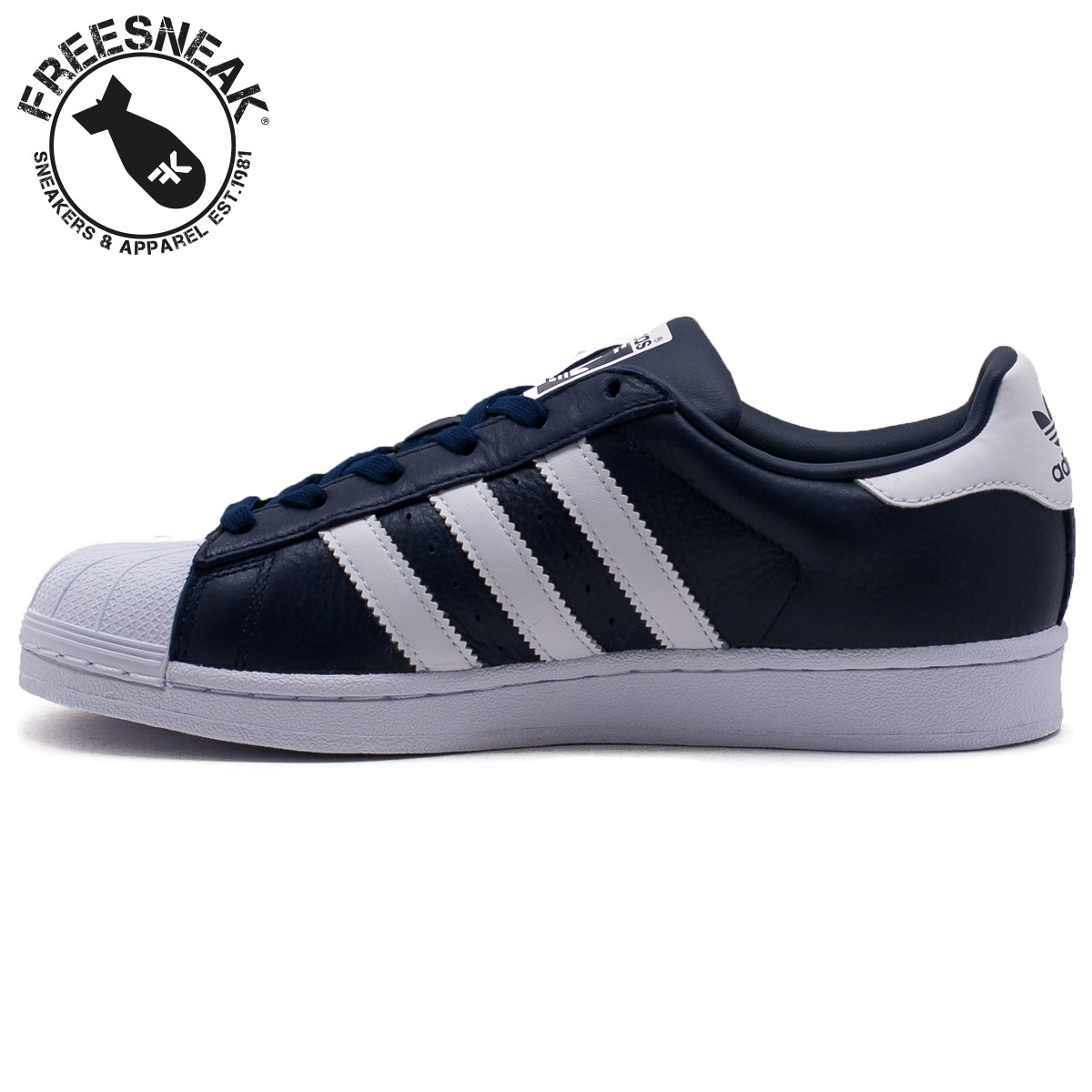 low priced f836c 7e714 Adidas   Superstar Leather Blue White   BB2239