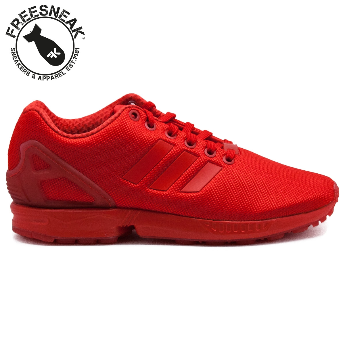 official photos 1e14a 2bcce Adidas Zx Flux Monochrome Red AQ3098