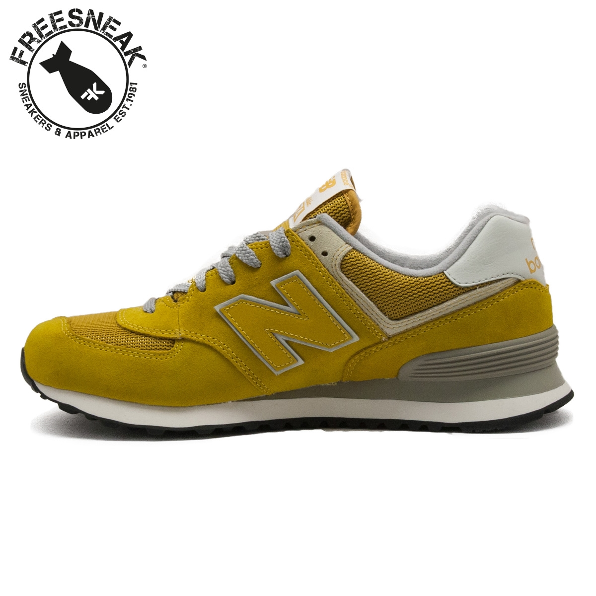 timeless design e7d98 035b1 NEW BALANCE 574 CLASSIC YELLOW ML574VMU
