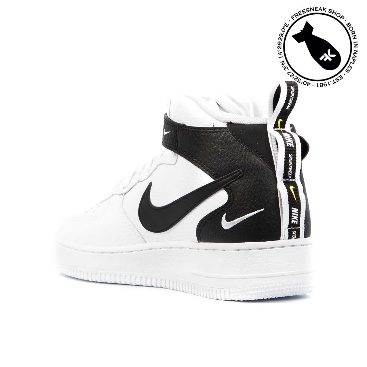 Sneakers Nike Air 1 Mid White Lv8 Force 2WI9HED