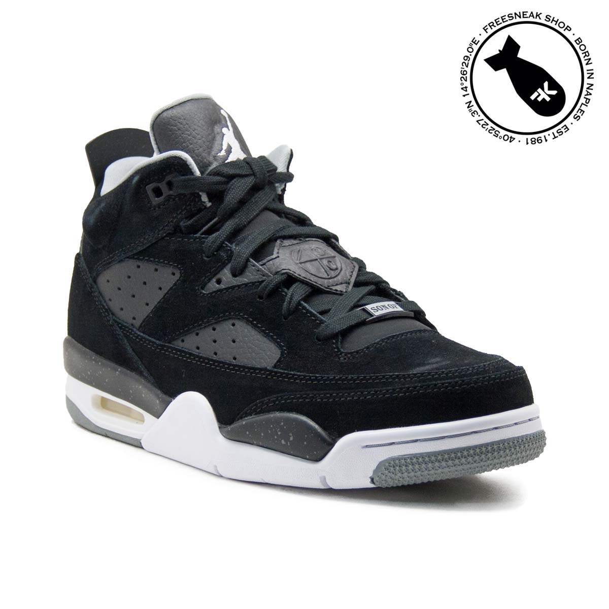 online retailer bd191 70123 Sneakers Nike Air Jordan Son Of Mars Low Suede Black 580603-001