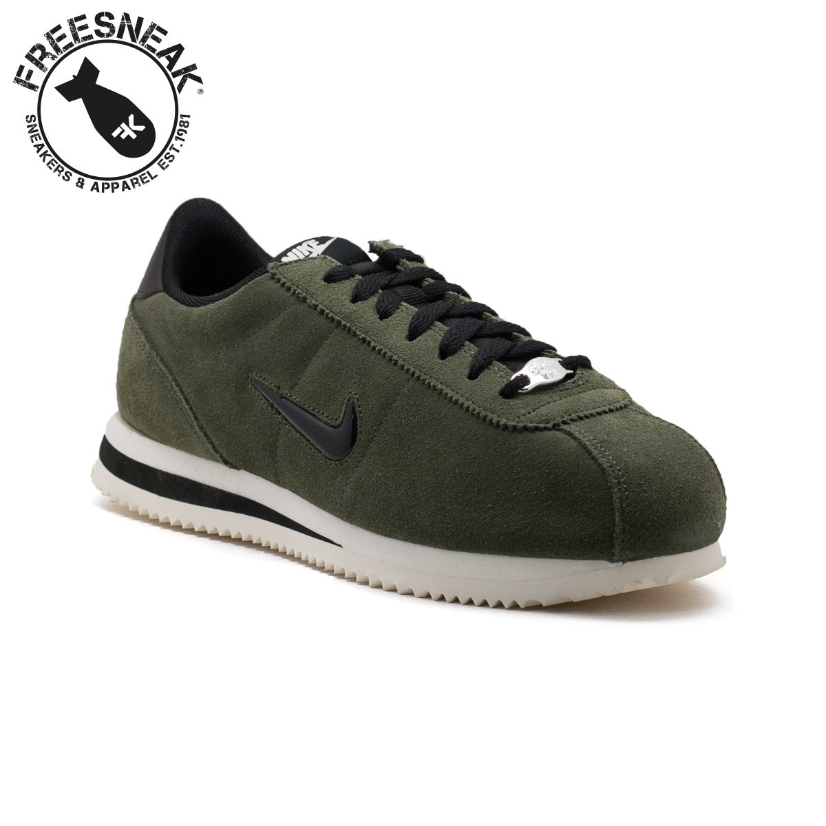 diseño atemporal zapatos genuinos diseño exquisito CORTEZ BASIC JEWEL MILITARY GREEN 833238-300