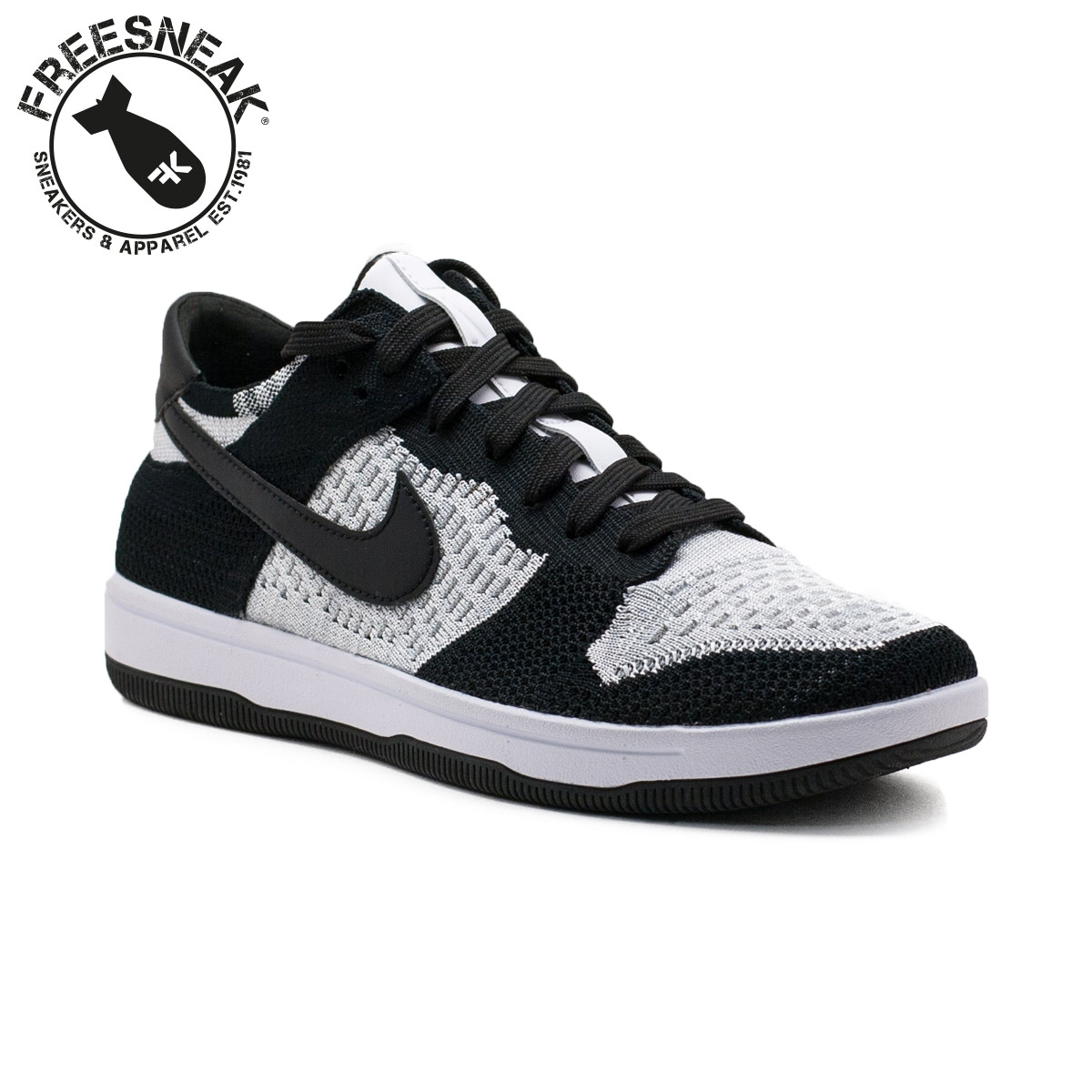 newest 6e3bc 2a962 DUNK FLYKNIT WHITE BLACK 917746-100