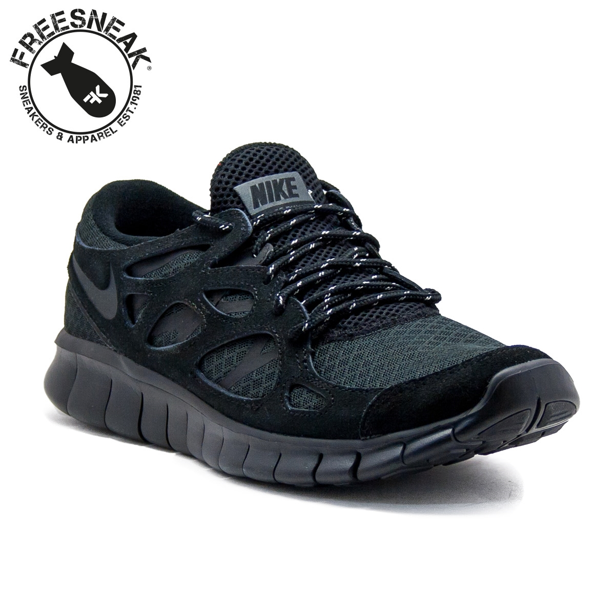NIKE FREE RUN 2 TOTAL BLACK 537732-020