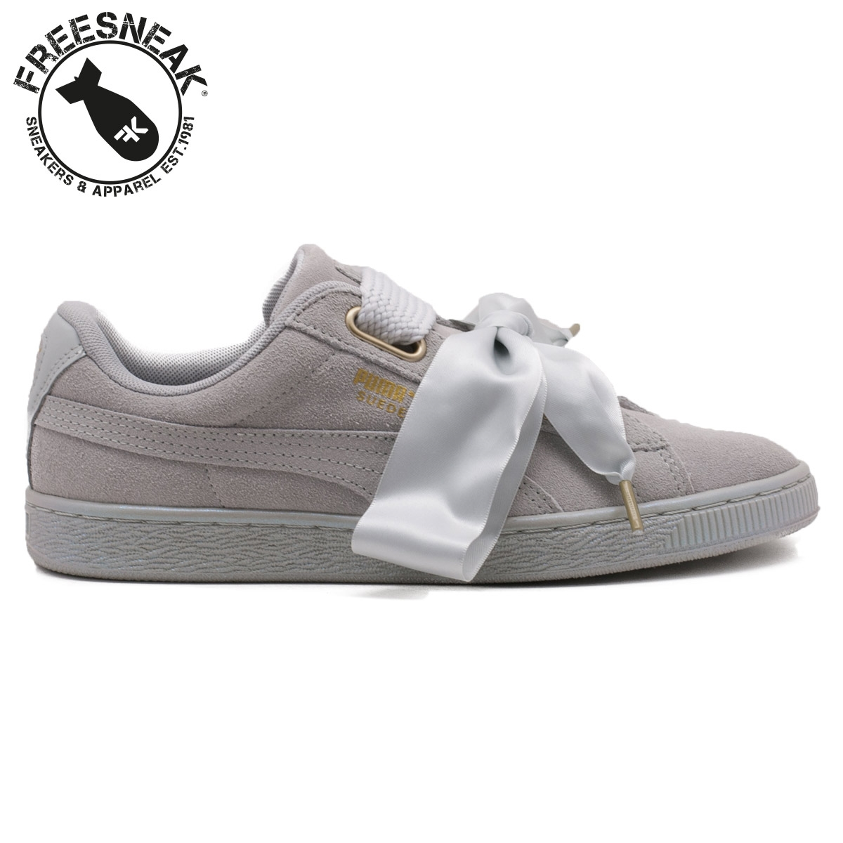 new styles 0592a a4c18 SUEDE HEART SATIN GREY 362714-02