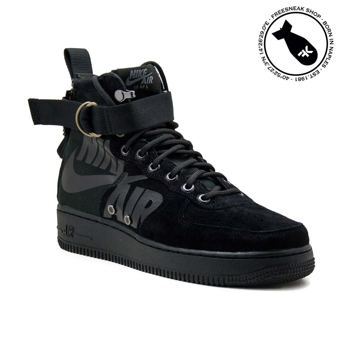sale retailer f479a 00f3c Sneakers Nike SF Air Force 1 Mid Black 917753-008