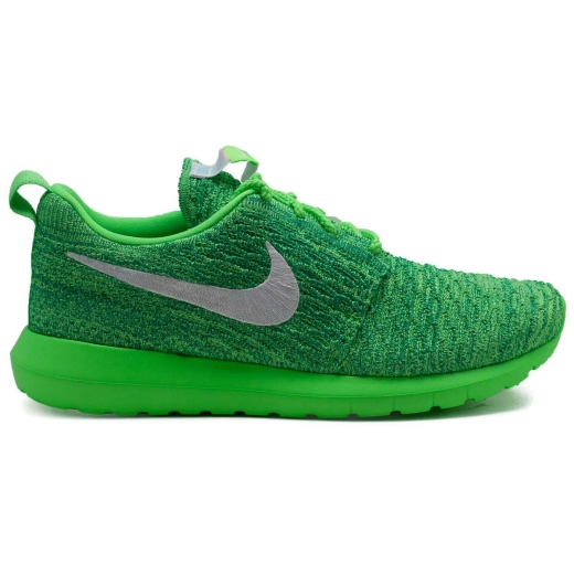 100% authentic 8a3f1 a2225 ROSHE ONE NM FLYKNIT GREEN 677243-301