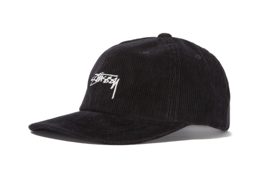 Corduroy Low Pro Stussy Visor Hat Black  2de8bb45a29