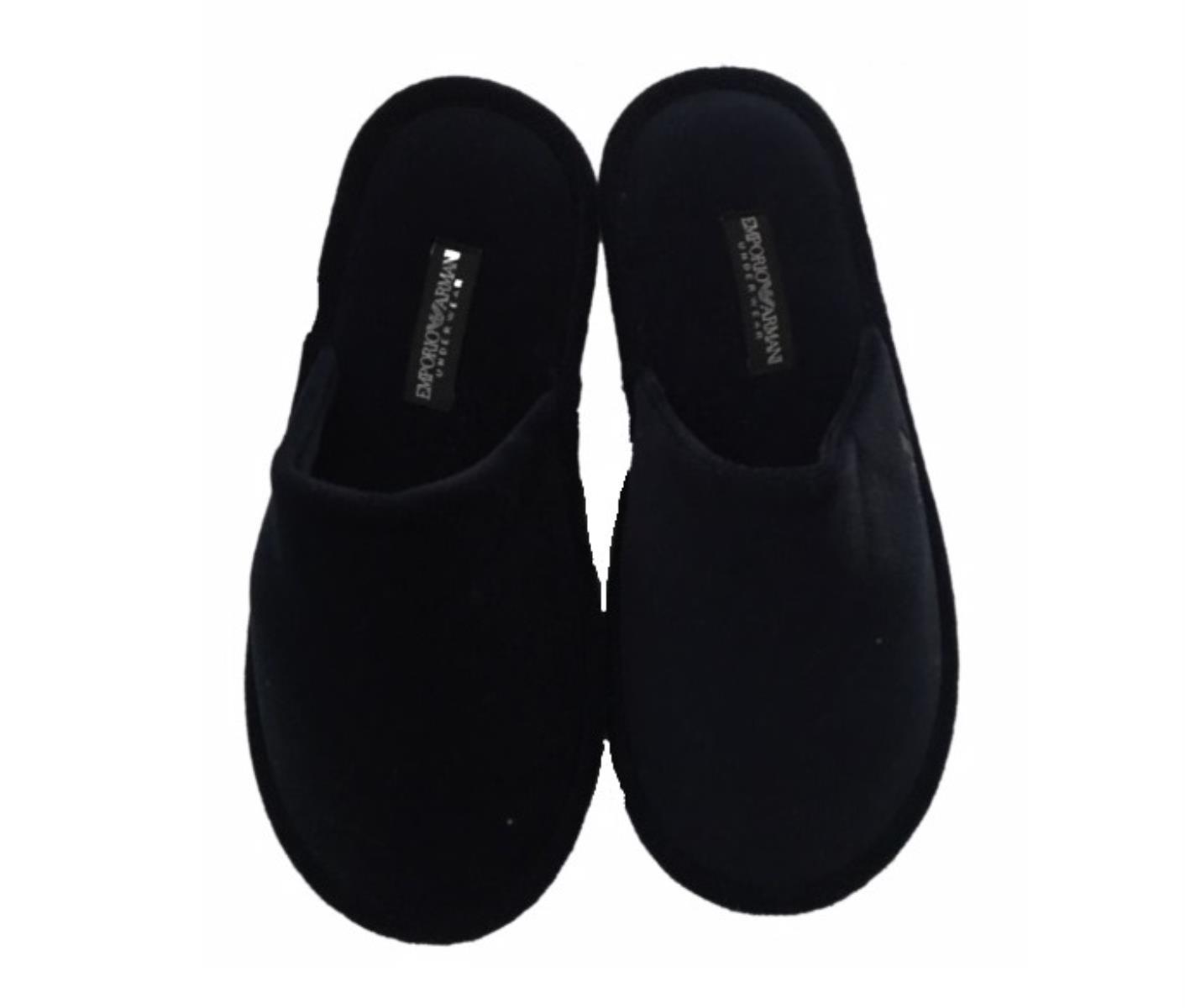 uomo rilasciare informazioni su vendita di liquidazione Emporio Armani - Pantofole con logo con custodia