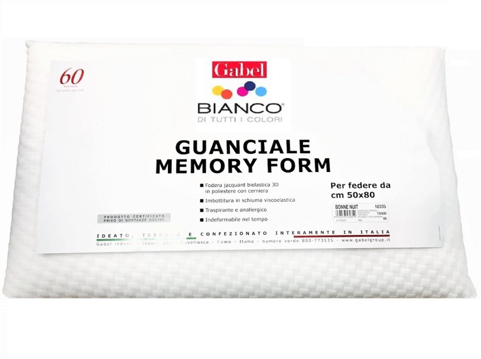 Cuscini Gabel.Guanciale Memory Form Gabel