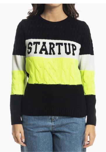 ri52c7820 startup felpa spalla aperta con frangia palline